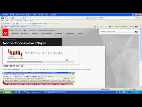 How To Update Adobe Shockwave Player For Internet Explorer 6 7 8
