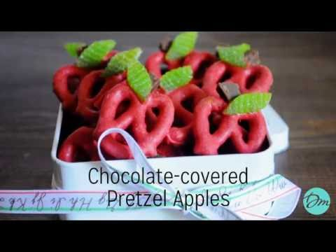 Chocolate Covered Pretzel Apples