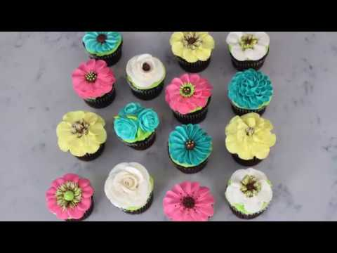 Coming Soon: Buttercream Floral Cupcake designs featuring the Rose Tip
