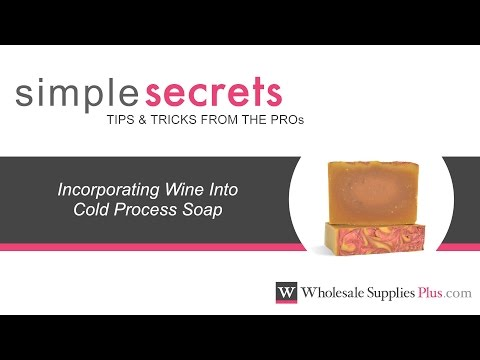 How To Use Wine In Cold Process Soap {Simple Secrets}