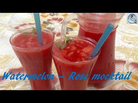 Watermelon-rose Mocktail recipe - in hindi - DOTP - Ep (275)