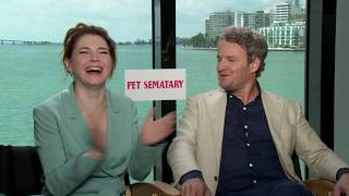 Download Pet Sematary's Jason Clarke and Amy Seimetz On Getting Stephen King's Approval Video