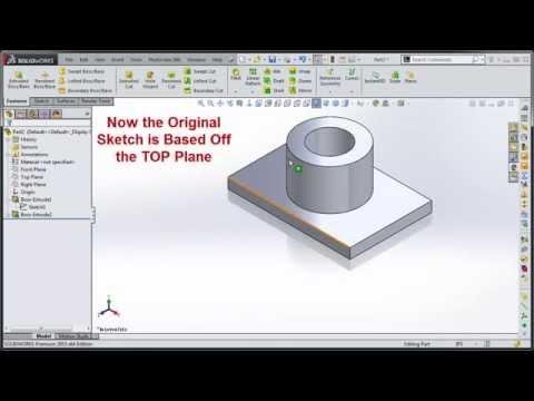 Change SolidWorks Sketch Plane Orientation