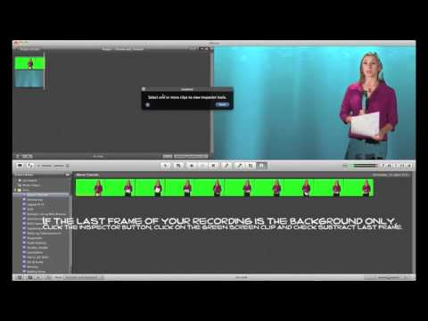 How to chroma key (Green/Blue Screen) in iMovie '11