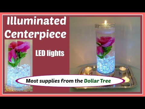 Enchanted Rose Centerpiece DIY for Weddings and Special Occasions. Illuminated