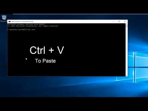 Copy and Paste in the Command Prompt
