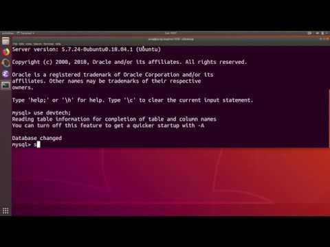 Python PyMySQL Tutorial 2 : Create Table in MySQL Database