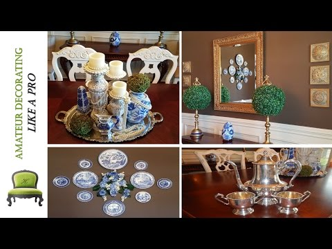 How To Display A  Blue And White Plate Wall & My New Silver Haul