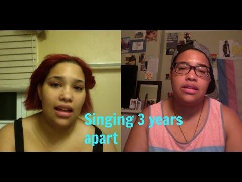 3 YEAR difference singing comparison, FTM