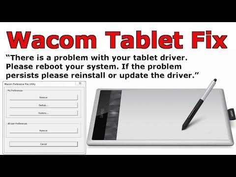 Wacom Tablet Fix