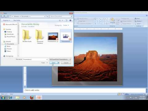 How to Open PowerPoint 2007 in a Separate Window