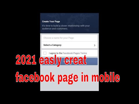 How to create a facebook page in mobile 2018