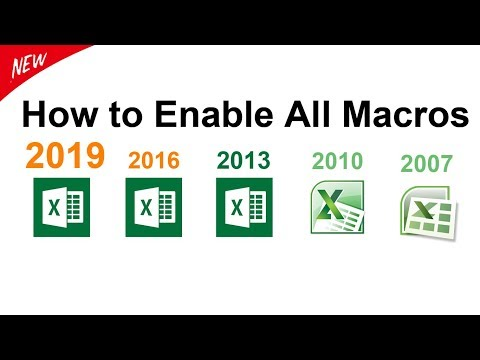 How to enable all macros Ms Excel 2019 / 2016 / 2013 / 2010 / 2007