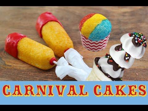 CARNIVAL CAKES Cupcakes, Twinkies & Super Bowl Treats | My Cupcake Addiction | Elise Strachan
