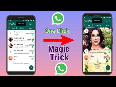 Change Whatsapp Home Screen Background - Use Any Photo ||
