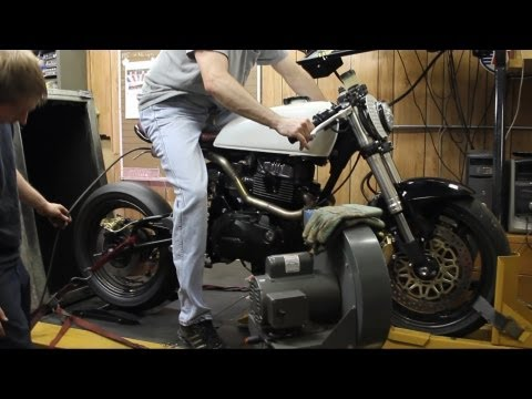 Wrench Tech Racing's custom CM450 exhuast note on the dyno