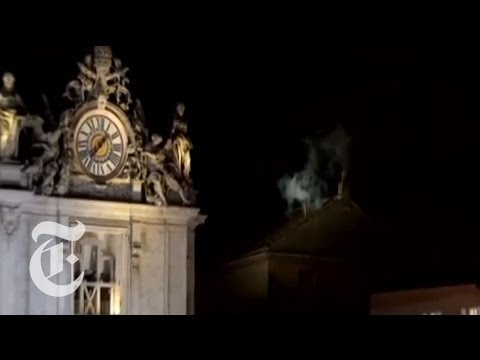 Conclave 2013 | New Pope White Smoke Seen at Vatican in Rome | The New York Times