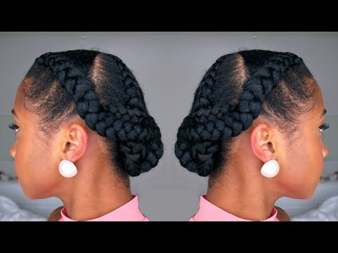 How to Snatch YO Hair Back into a Simple Braided Protective Hairstyle