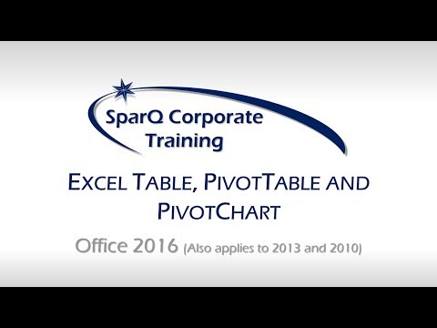 QUICKSTART - Excel 2016 - Table, PivotTable, PivotChart