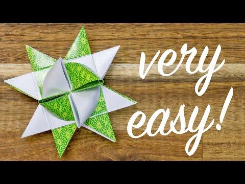 ORIGAMI Froebel Star making, EASY Christmas Star folding tutorial