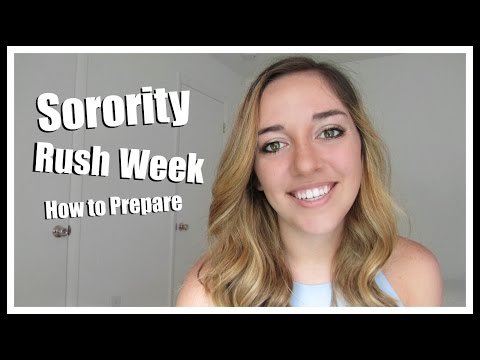 Sorority Rush Week: How to Prepare