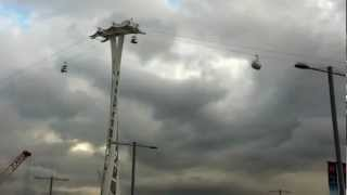 First test of the Cable Car for London across the River Thames