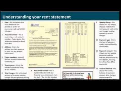 Tenant rent statement