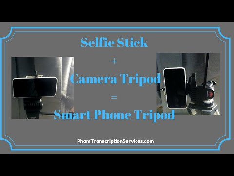 Cell | Smart Phone Tripod (Vertical/Portrait & Horizontal/Landscape) = Selfie Stick + Camera Tripod