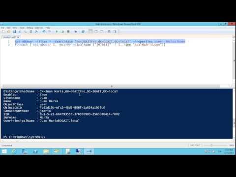 Windows Server 2012 R2 - Cambiar UPN (User Principal Name) de Active Directory con PowerShell