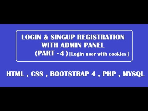 login user with cookies using html,css,bootstrap,php,mysql [ PART-4 ]