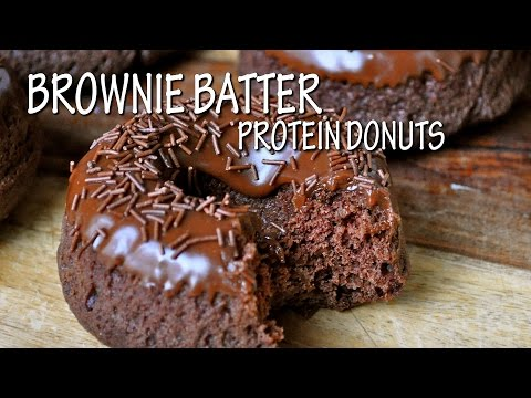 Brownie Batter Protein Donuts