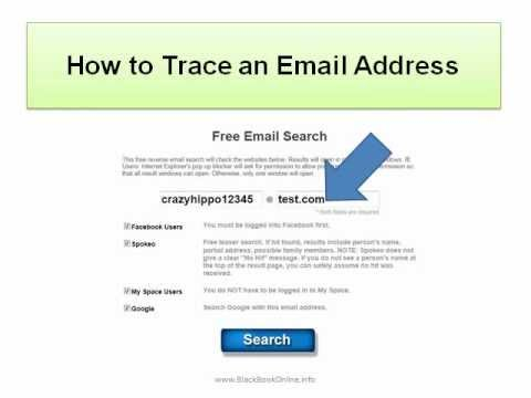 How to Trace an Email Address