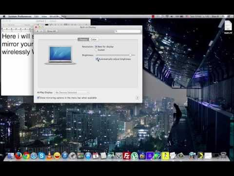 How to Mirror MacBook screen without Apple Tv Wirelessly