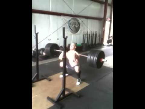 Front Squat 295 x 3....7 weeks out from broken collar bone