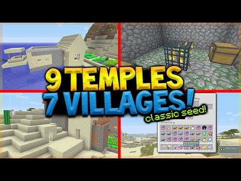 8 DESERT TEMPLE 7 VILLAGES CLASSIC SEED (Minecraft Xbox 360, PS3, Xbox One, Wii U, Vita)