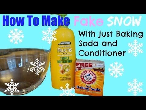 HOW TO MAKE FAKE SNOW With Baking Soda and Hair Conditioner Family Fun activities