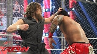 The Usos vs. Bray Wyatt & Daniel Bryan - Tag Team Cage Match: Raw, Jan. 13, 2014