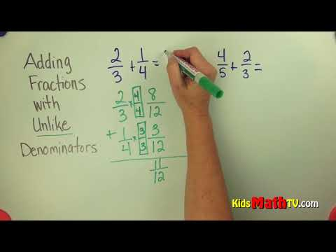 Adding mixed numbers with unlike denominators video