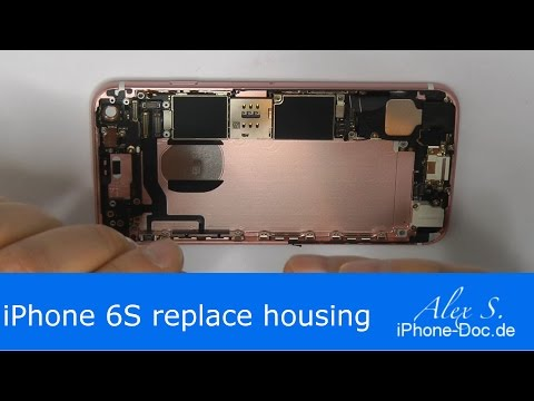 iphone 6s back housing replacement change backcover, repair, DIY