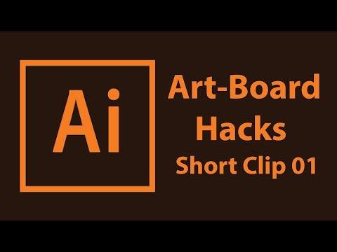 Adobe Illustrator  Short Tutorials 01 - Ai Art-board Hacks - Short-clip
