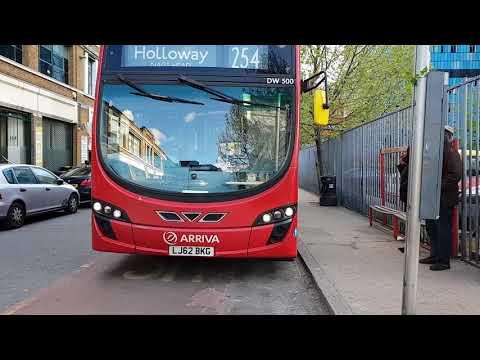 Blind change on Arriva London TC transfer DW500 (LJ62BKG)