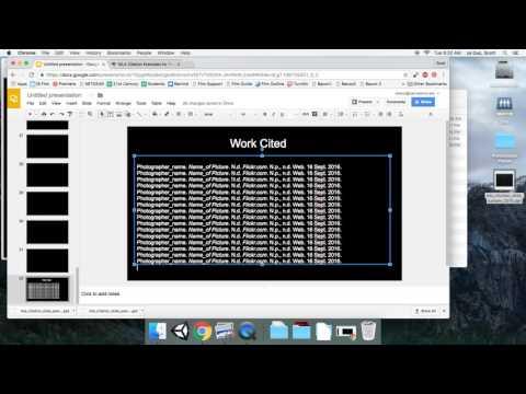 Work Cited Slide in Google Slides
