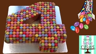 How to make a Smarties number 4 cake