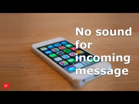 No incoming sound for text messages in iPhone
