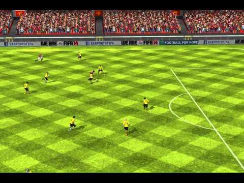 FIFA 14 iPad - Cazorla dribbling vs. Bor. Dortmund