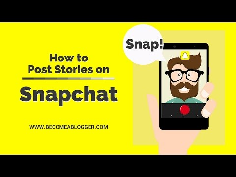 How to Post Stories in Snapchat