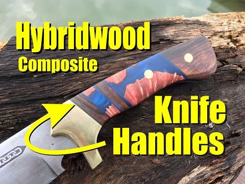How to easily make Hybridwood composite knife handles or knife scales