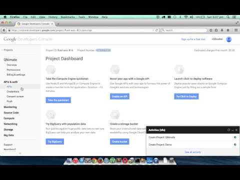 Google Cloud Messaging for Android API Key and Project Number