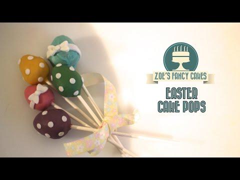 How to make Easter egg cake pops decorating cake pops cake decorating tutorials