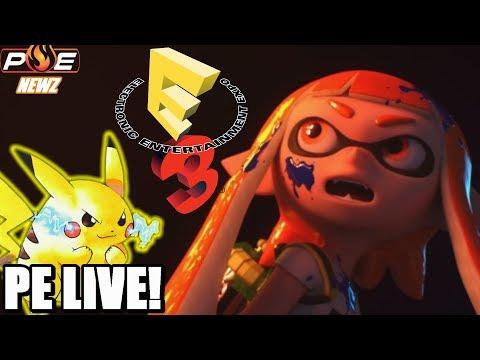 Road to E3 2018 Day 14! - Pokemon Switch Domains | Square Enix | Smash Bros. + Q&A | PE LIVE!